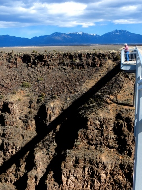 At 565 feet above the Rio Grande. Gorge Bridge, NM