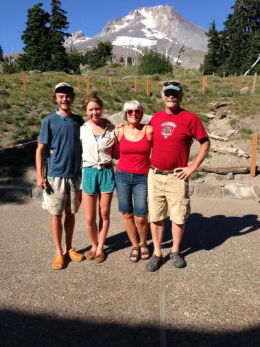 Meeting at Mt. Hood.  Darrell and Deb brought in the resupply.  A beautiful day together.