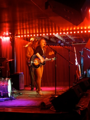 Julia Haltigan, performing at the Spider House