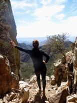 Emory Peak overnighter. Climb from Chisos Trailhead. After 4 miles, reach the saddle and spur trail to Emory Peak. The 1.5 miles to the summit ends in a technical rock-scramble to the top.