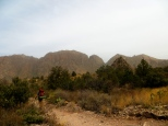 Return to Chisos Basin on the Laguna Meadow Trail, downhill all the way home. Makes for 16 miles round trip, a nice breaking-in for our legs and feet.