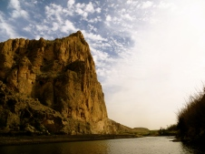Boquillas Canyon, accesible via an easy trail along the Rio Grande floodplain.
