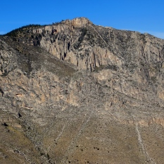 Limestone layers, Guadalupe Mountains.