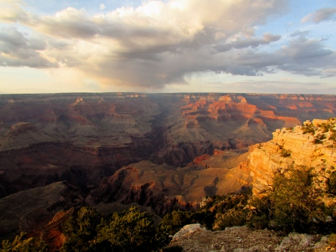 Grand Canyon at sunset, Yavapai Point