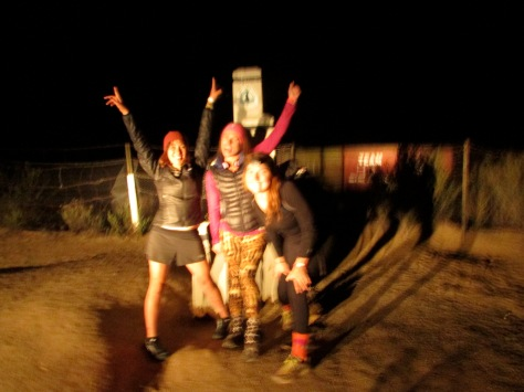 Solstice, Hippie Long Stockings, Outburst.  Southern Terminus of the Pacific Crest Trail.  9PM, April 24, 2014.