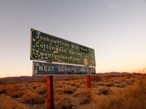 Entering Joshua Tree National Park.